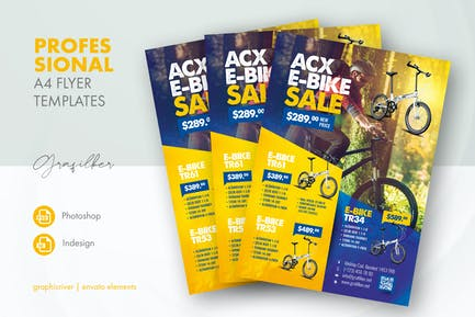 Bicycle Sales Flyer Templates