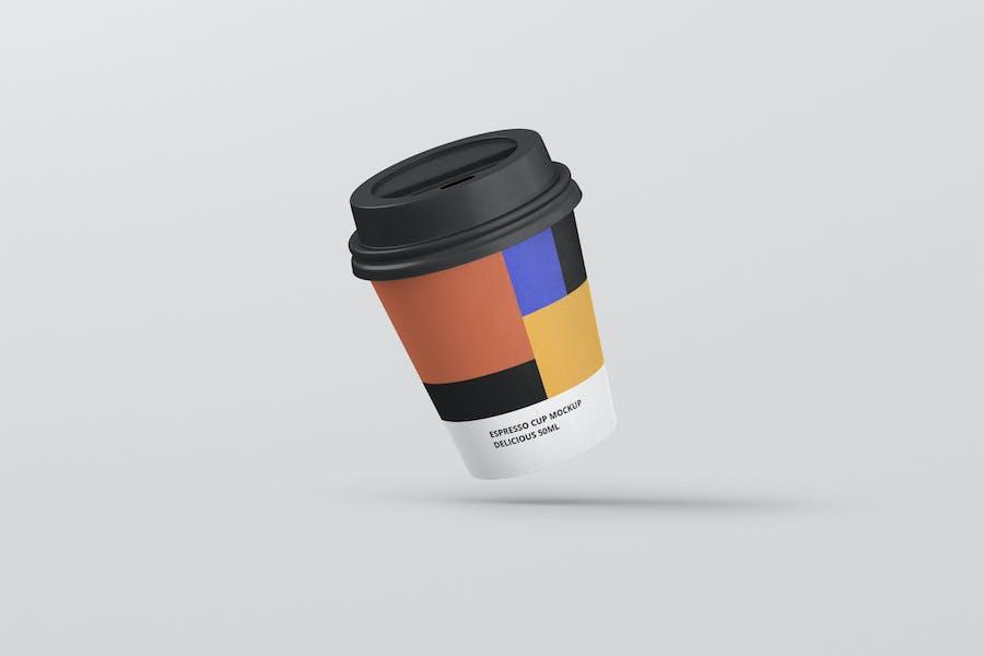 Espresso Coffee Cup Mockup