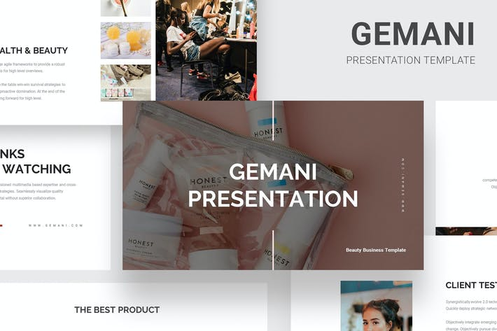 Thumbnail for Gemani - Beauty Business Google Slides
