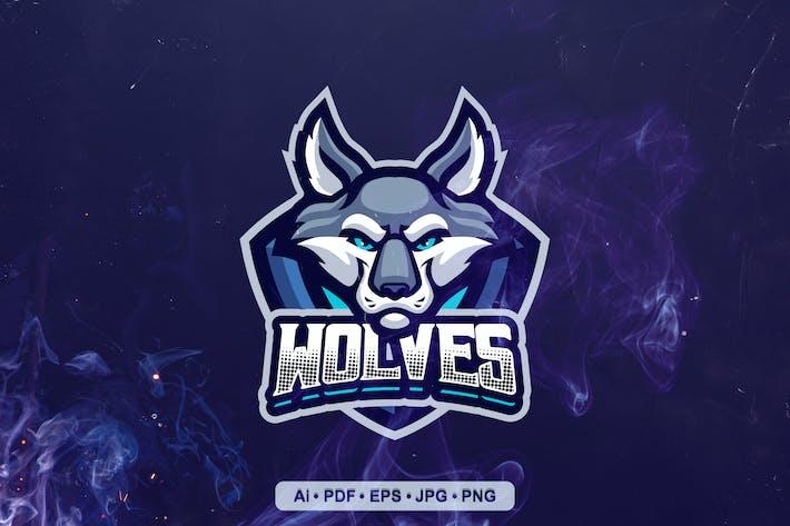 Wolf Mascot Mascot Logo template
