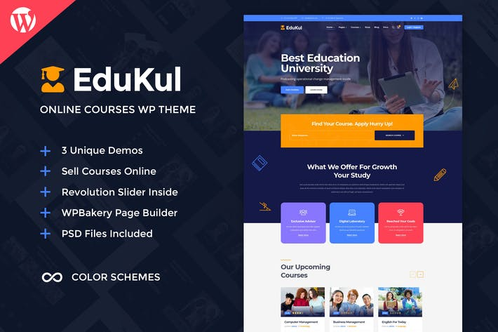 Thumbnail for Edukul | Online Courses WordPress Theme
