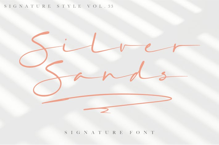 Thumbnail for Silver Sands - Signature Font