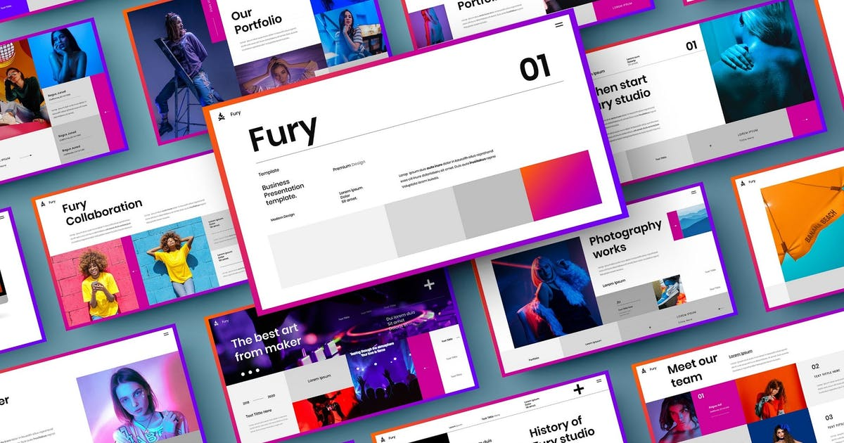 Download Fury – Business PowerPoint Template by DensCreativeStudio