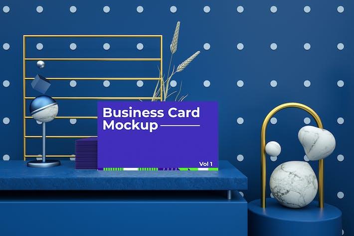 Thumbnail for Abstract Business Card Mockup Vol 01