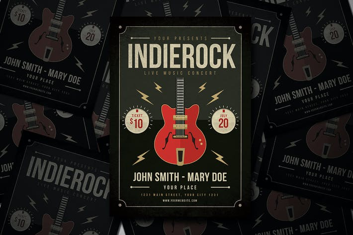 Thumbnail for Indierock Guitar Flyer