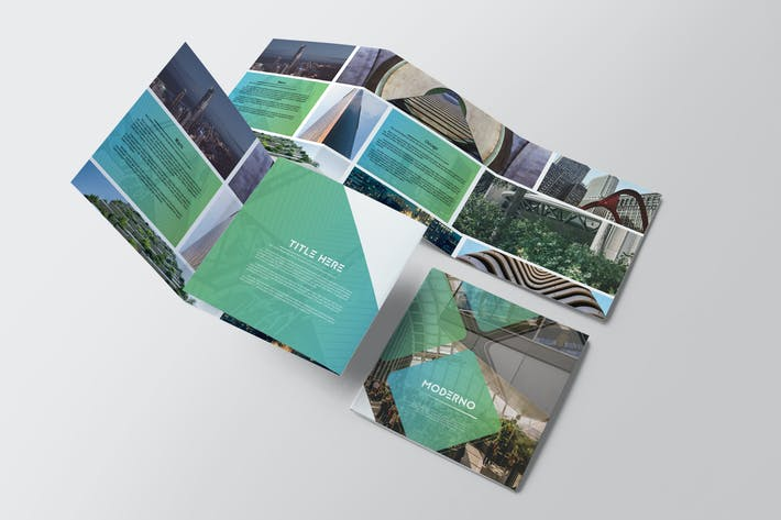 Cover Image For Moderno Square Trifold Brochure