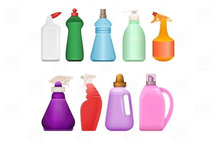 Chemische Haushaltswaren - eine Reihe von Objekten