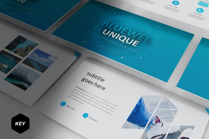 Cover Image For Bluewel - Keynote Template
