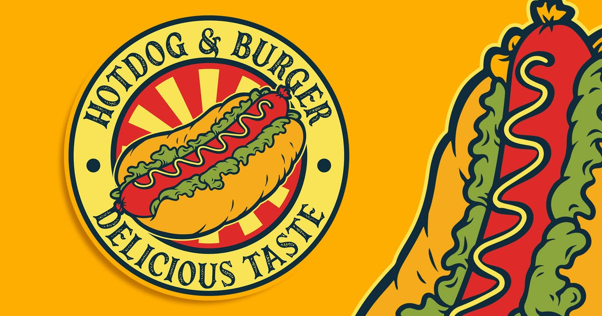 Download Hotdog Vintage Logo Template by Blankids