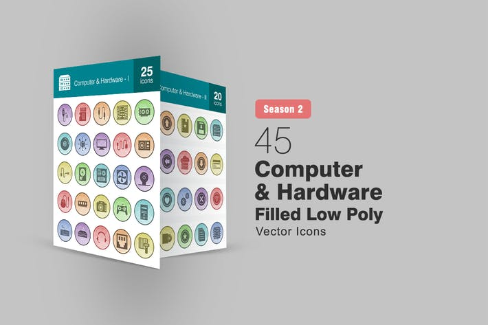 Thumbnail for 45 Компьютер и оборудование Низкие Поли Иконки Сезон II