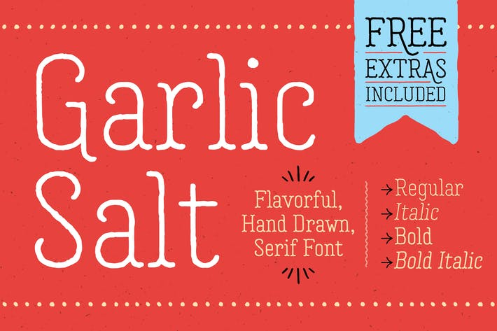 Thumbnail for Garlic Salt Font Family