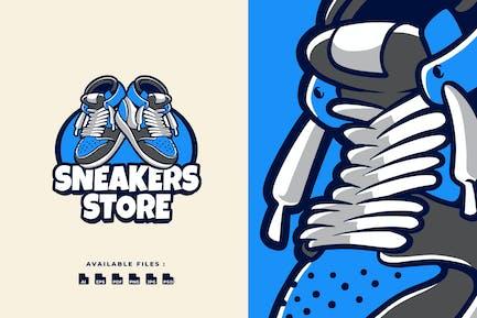 Sneakers Store Business Cartoon Logo