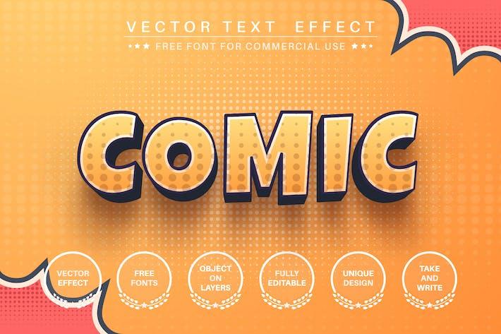 3D комикс - редактируемый текстовый эффект, стиль шрифта