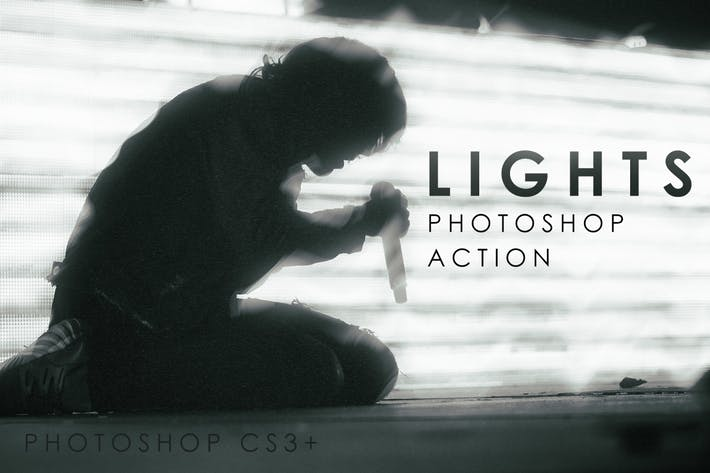 Thumbnail for Lights Photoshop Action