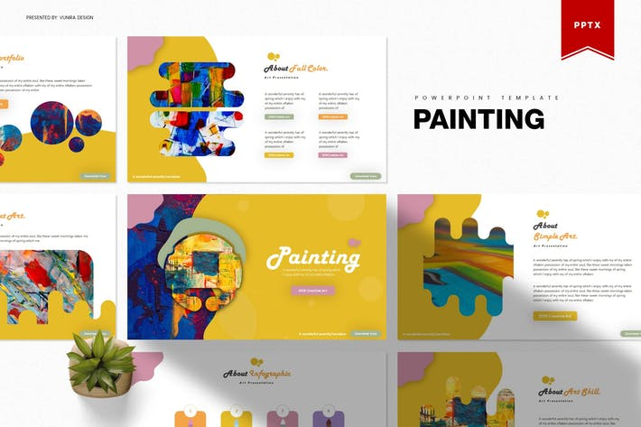 Thumbnail for Painting | Powerpoint Template