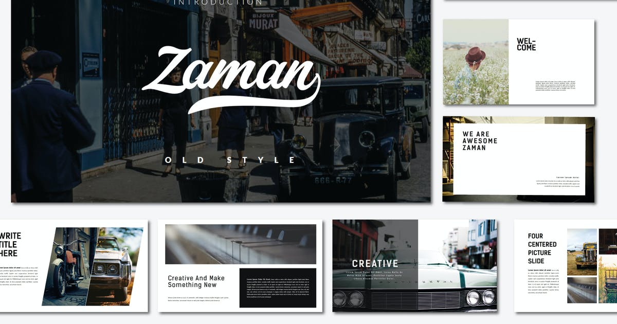 Download Zaman   Powerpoint Template by amarlettering