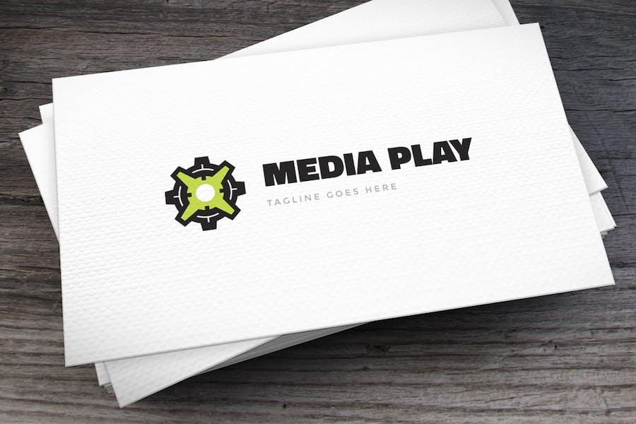 Letter X Media Logo Template