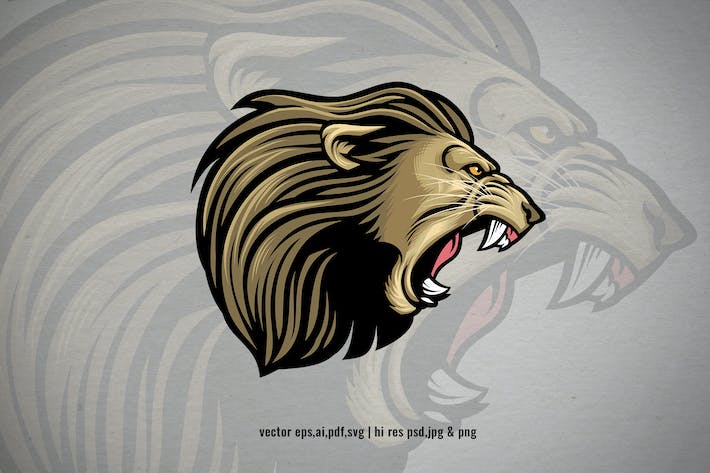 Thumbnail for lion head angry roaring
