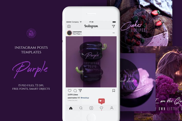 Thumbnail for Purple Instagram Posts