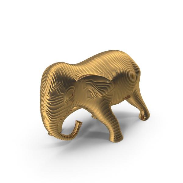 Golden Elephant Sculpture