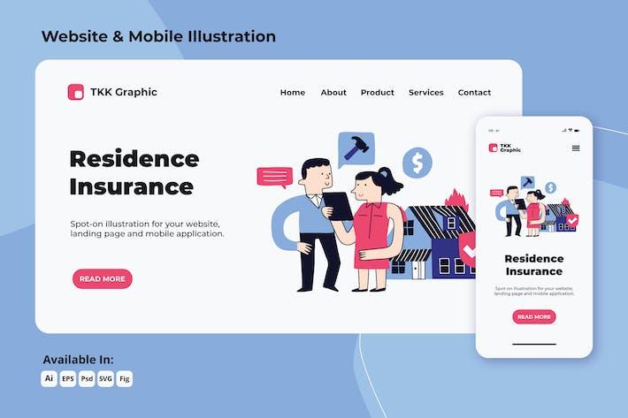 Thumbnail for Wohn-/Hausversicherungen Web und Mobile