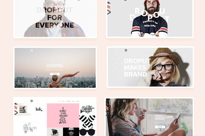 Thumbnail for Dropout - Creative Multi-Purpose Theme