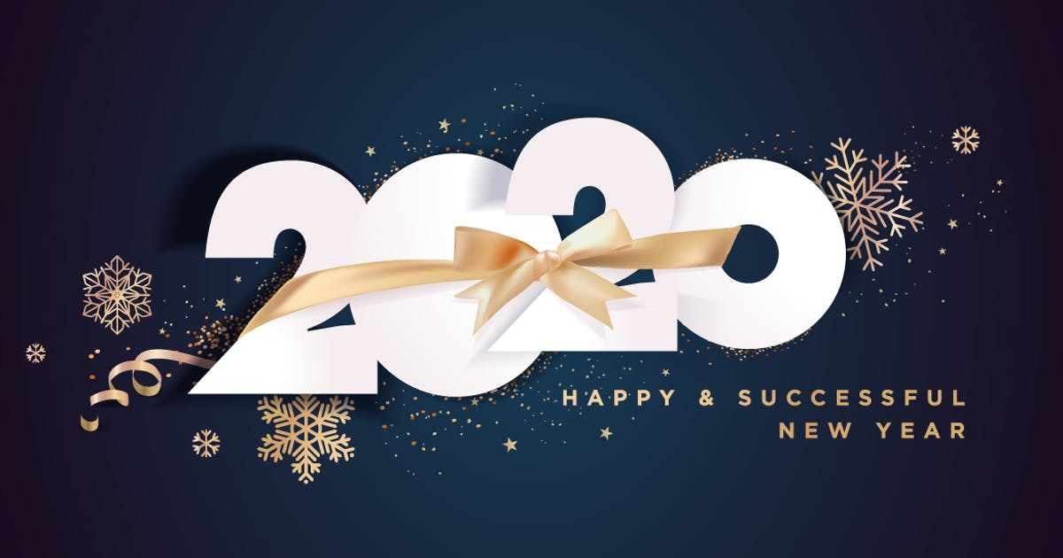 Download Business Happy New Year 2020 greeting card by PureSolution