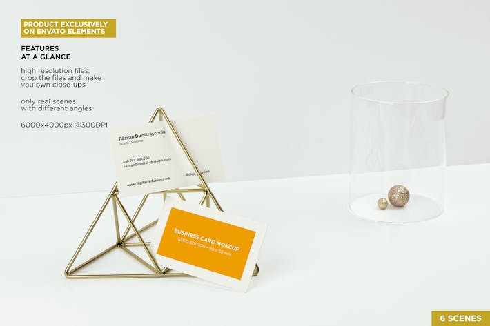 Thumbnail for Business Cards Gold Scene