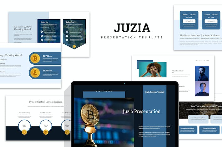 Thumbnail for Juzia : Crypto Currency Business Powerpoint