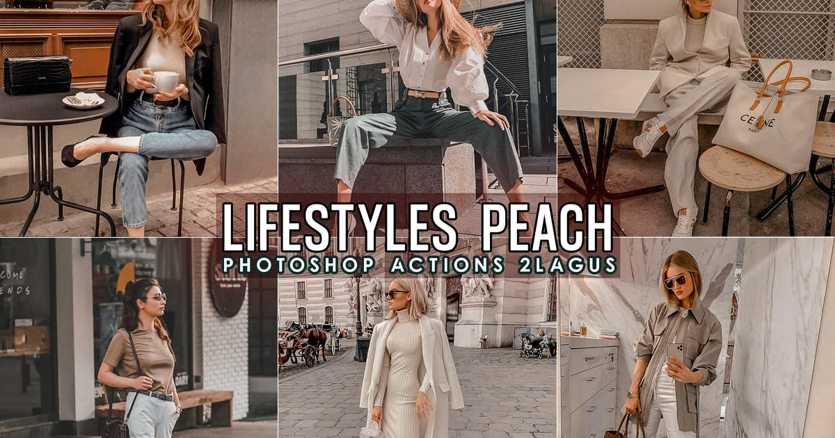 Download Lifestyles Peach Photoshop Actions by 2lagus