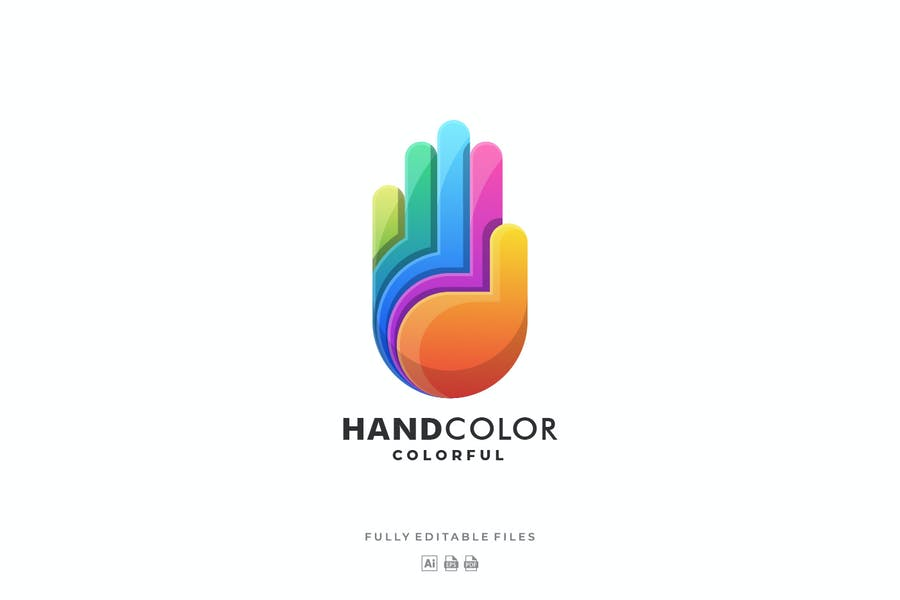 Hand Gradient Colorful Logo