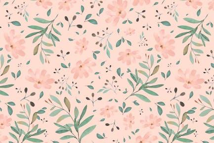 Art of flower in watercolor style wallpaper