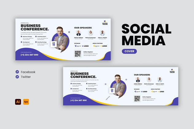 Conference Facebook & Twitter Cover Template
