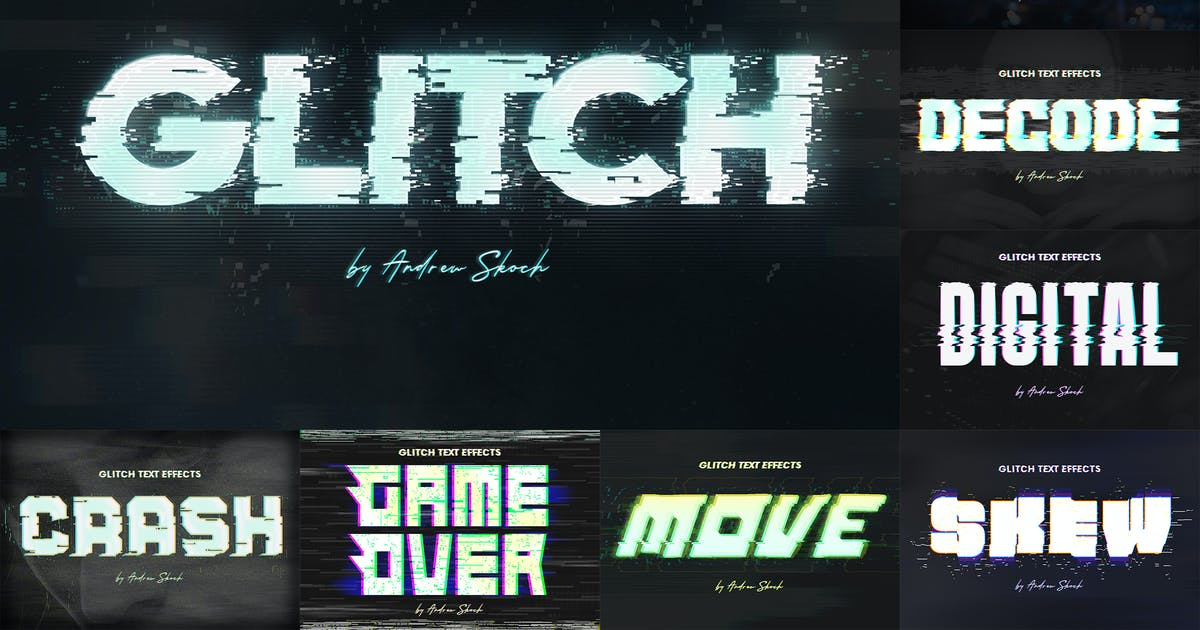 Download Glitch Text or Logo Effects by Sko4