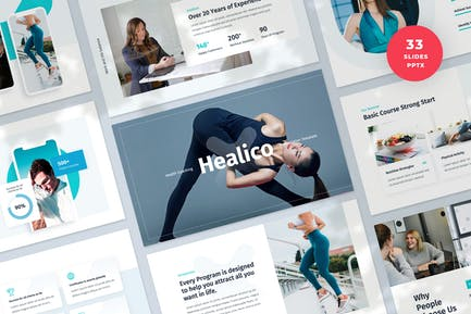 Health Coaching PowerPoint Presentation Template