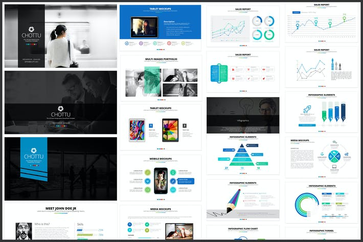 Thumbnail for Chotts PowerPoint Template