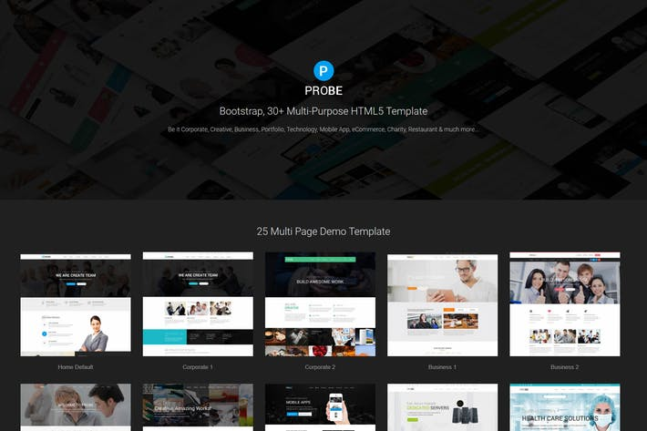 Thumbnail for Probe - Responsive Multi-Purpose HTML5 Template