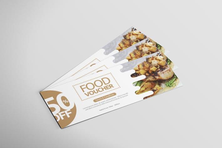 Thumbnail for Restaurant Food - Voucher Design