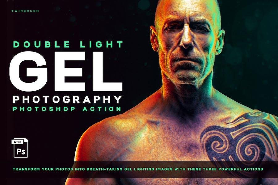 Dual lighting (Gel) Effect