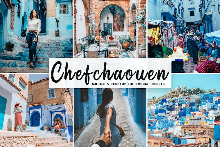 Thumbnail for Chefchaouen Mobile & Desktop Lightroom Presets