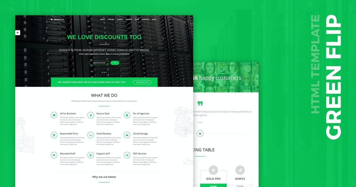 Download Green Flip - One Page Theme Bootstrap 3 by wwwebinvader
