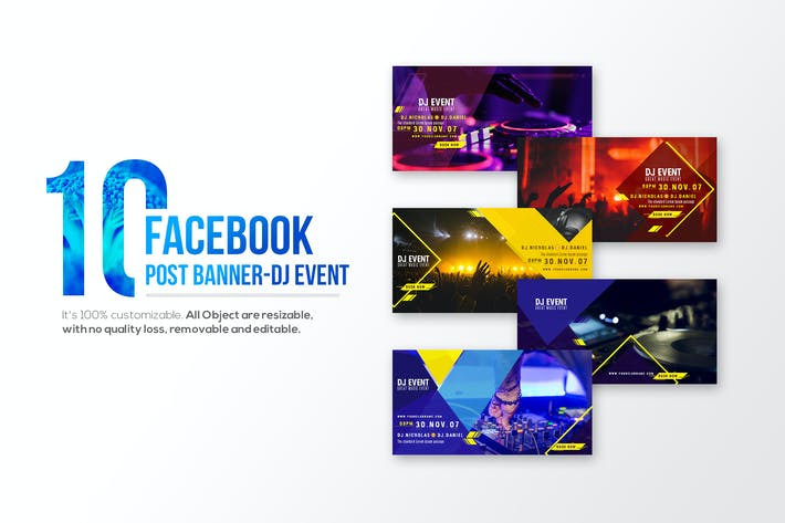 Thumbnail for 10-Facebook Post banners-DJ Event