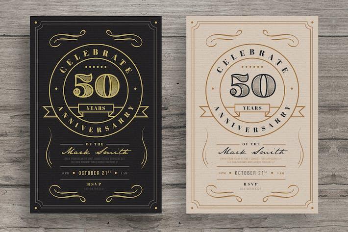 Thumbnail for Vintage Anniversary invitation