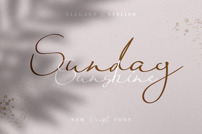 Thumbnail for Sunday Sunshine - Handwritten Script Font