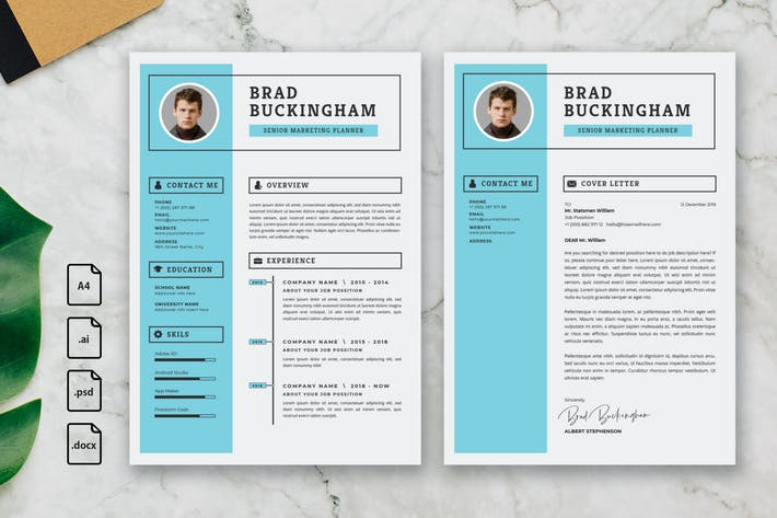 Thumbnail for Professional CV And Resume Template Brad