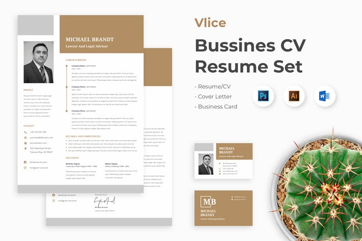 Thumbnail for Professional CV Resume Set