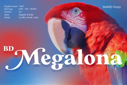 BD Megalona | Text Con serifa Familia tipográfica