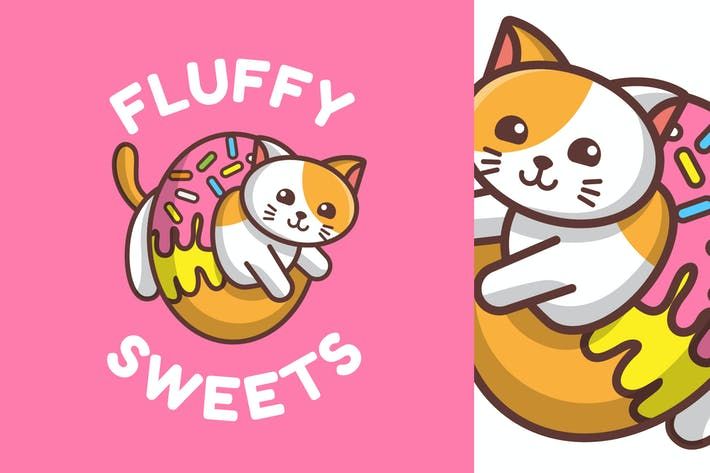 Thumbnail for Fluffy Sweets - Mascot & Esport Logo