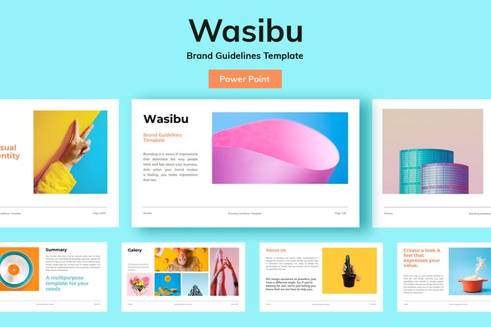 Thumbnail for Wasibu - Powerpoint Template Presentation