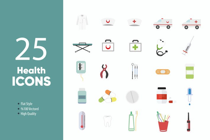 Thumbnail for Health Icons Set